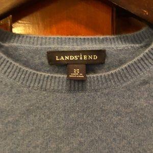 Lands End blue cashmere sweater